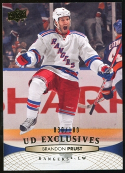 2011/12 Upper Deck Exclusives #334 Brandon Prust /100