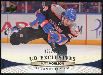 2011/12 Upper Deck Exclusives #336 Matt Moulson /100