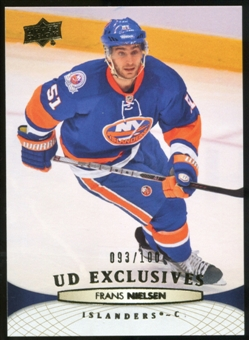 2011/12 Upper Deck Exclusives #337 Frans Nielsen /100