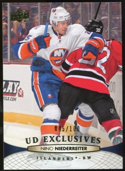 2011/12 Upper Deck Exclusives #338 Nino Niederreiter /100