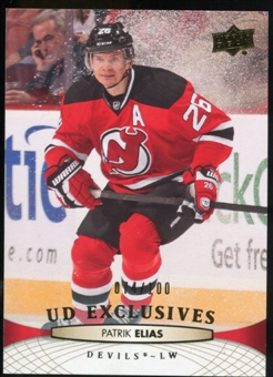 2011/12 Upper Deck Exclusives #346 Patrik Elias /100