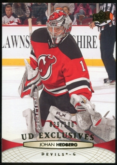 2011/12 Upper Deck Exclusives #347 Johan Hedberg /100