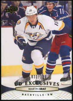 2011/12 Upper Deck Exclusives #349 Martin Erat /100
