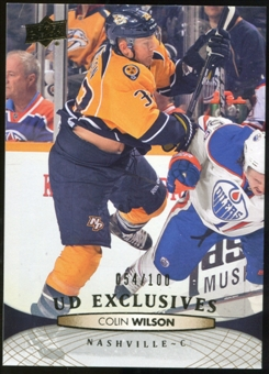 2011/12 Upper Deck Exclusives #352 Colin Wilson /100