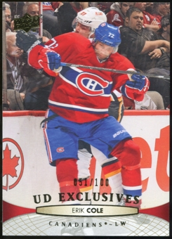 2011/12 Upper Deck Exclusives #357 Erik Cole /100