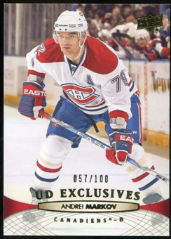 2011/12 Upper Deck Exclusives #359 Andrei Markov /100