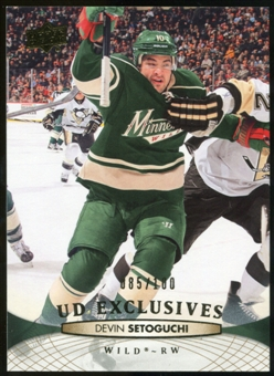2011/12 Upper Deck Exclusives #362 Devin Setoguchi /100