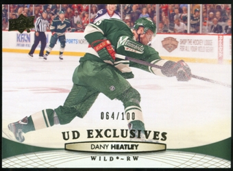 2011/12 Upper Deck Exclusives #363 Dany Heatley /100