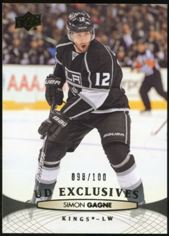 2011/12 Upper Deck Exclusives #369 Simon Gagne /100