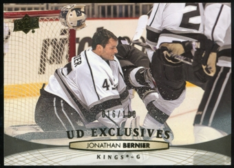 2011/12 Upper Deck Exclusives #371 Jonathan Bernier /100