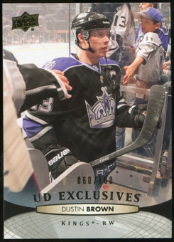 2011/12 Upper Deck Exclusives #372 Dustin Brown /100