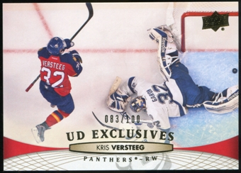2011/12 Upper Deck Exclusives #376 Kris Versteeg /100