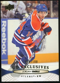 2011/12 Upper Deck Exclusives #381 Jordan Eberle /100