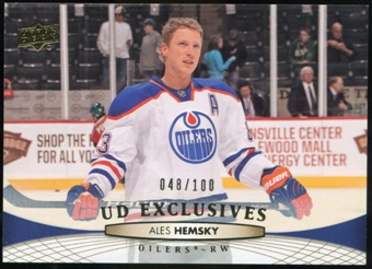 2011/12 Upper Deck Exclusives #382 Ales Hemsky /100