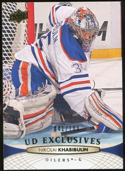 2011/12 Upper Deck Exclusives #384 Nikolai Khabibulin /100