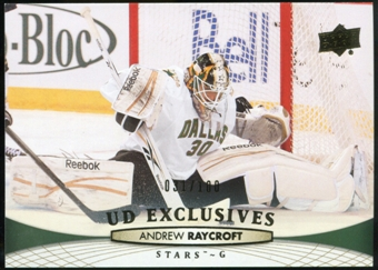 2011/12 Upper Deck Exclusives #399 Andrew Raycroft /100