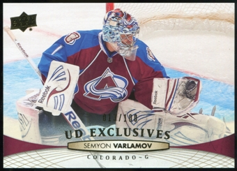 2011/12 Upper Deck Exclusives #408 Semyon Varlamov /100