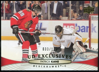 2011/12 Upper Deck Exclusives #411 Patrick Kane 33/100