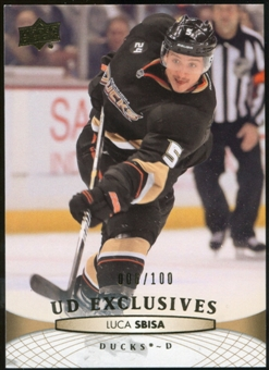 2011/12 Upper Deck Exclusives #448 Luca Sbisa /100