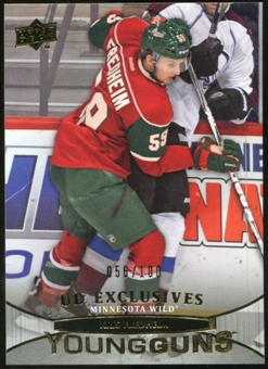 2011/12 Upper Deck Exclusives #474 Kris Fredheim YG /100