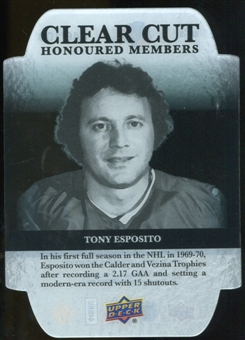 2011/12 Upper Deck Clear Cut Honoured Members #HOF9 Tony Esposito /100
