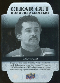 2011/12 Upper Deck Clear Cut Honoured Members #HOF17 Grant Fuhr /100