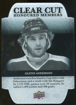 2011/12 Upper Deck Clear Cut Honoured Members #HOF18 Glenn Anderson /100