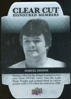 2011/12 Upper Deck Clear Cut Honoured Members #HOF20 Marcel Dionne /100