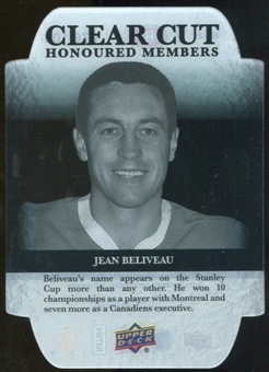 2011/12 Upper Deck Clear Cut Honoured Members #HOF24 Jean Beliveau /100