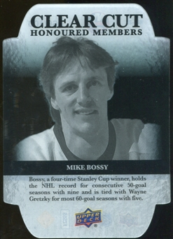 2011/12 Upper Deck Clear Cut Honoured Members #HOF28 Mike Bossy /100