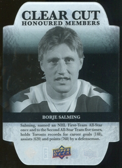 2011/12 Upper Deck Clear Cut Honoured Members #HOF39 Borje Salming /100