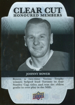 2011/12 Upper Deck Clear Cut Honoured Members #HOF40 Johnny Bower /100