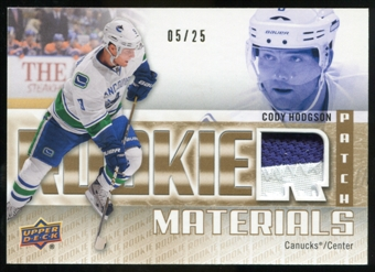 2011/12 Upper Deck Rookie Materials Patches #RMCH Cody Hodgson /25