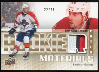 2011/12 Upper Deck Rookie Materials Patches #RMEG Erik Gudbranson /25