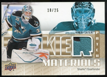 2011/12 Upper Deck Rookie Materials Patches #RMHS Harri Sateri /25
