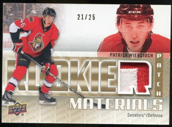 2011/12 Upper Deck Rookie Materials Patches #RMPW Patrick Wiercioch /25