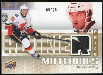 2011/12 Upper Deck Rookie Materials Patches #RMRH Roman Horak /25
