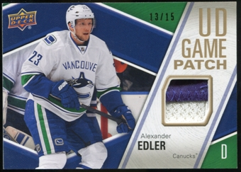 2011/12 Upper Deck Game Jerseys Patches #GJ2AE Alexander Edler /15