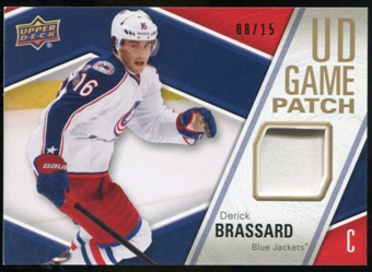 2011/12 Upper Deck Game Jerseys Patches #GJ2DB Derick Brassard /15