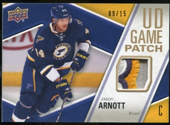2011/12 Upper Deck Game Jerseys Patches #GJ2JA Jason Arnott /15