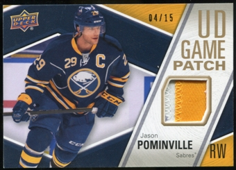 2011/12 Upper Deck Game Jerseys Patches #GJ2JP Jason Pominville /15
