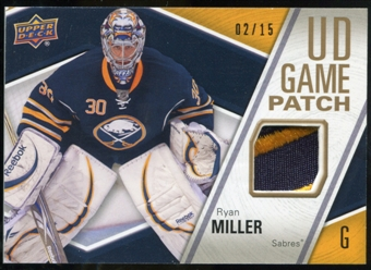 2011/12 Upper Deck Game Jerseys Patches #GJ2RM Ryan Miller /15