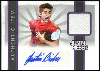 2012 Panini Justin Bieber Autographed Event Worn T-Shirt Card