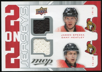 2008/09 Upper Deck MVP Two on Two Jerseys #J2SHVS Jason Spezza/Dany Heatley/Thomas Vanek/Drew Stafford