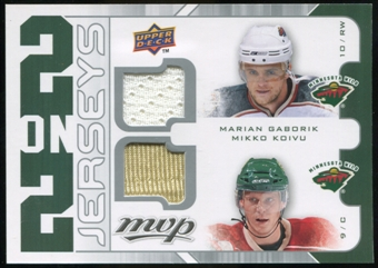 2008/09 Upper Deck MVP Two on Two Jerseys #J2SKHG Marian Gaborik/Mikko Koivu/Joe Sakic/Milan Hejduk