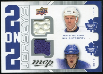2008/09 Upper Deck MVP Two on Two Jerseys #J2SSHA Mats Sundin/Nik Antropov/Dany Heatley/Jason Spezza