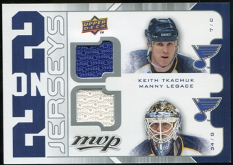 2008/09 Upper Deck MVP Two on Two Jerseys #J2TLLN Keith Tkachuk/Manny Legace/Rick Nash/Pascal Leclaire