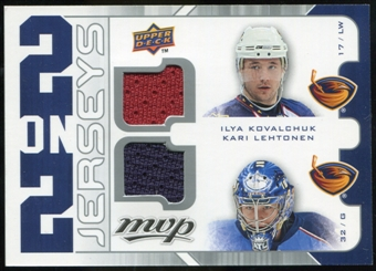 2008/09 Upper Deck MVP Two on Two Jerseys #J2VWKL Ilya Kovalchuk/Kari Lehtonen/Tomas Vokoun/Stephen Weiss