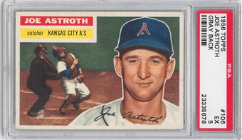 1956 Topps Baseball #106 Joe Astroth PSA 5 (EX) *5678
