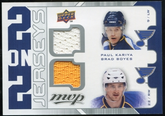 2008/09 Upper Deck MVP Two on Two Jerseys #J2KTBP Paul Kariya/Brad Boyes/Keith Tkachuk/David Perron